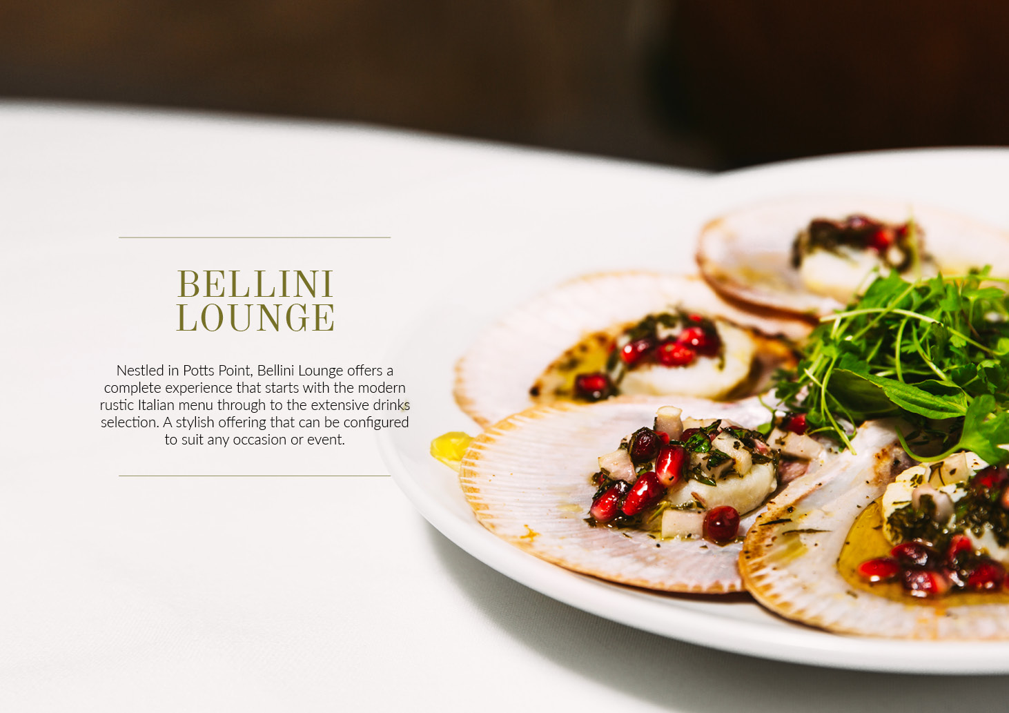 Bellini Function Menu V72